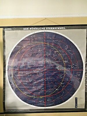 Vintage Astronomy Chart Of The Northern Sky