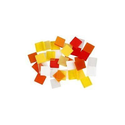 Mini Mosaic, size 10x10 mm, thickness 2 mm, red/orange harmony, 25g [HOB-51923]