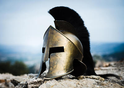 300Movie King Leonidas Spartan Helmet Greek Warrior Costume Helmet Medieval Gift