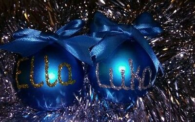 Personalised Christmas Baubles Balls Bauble Ball 60mm