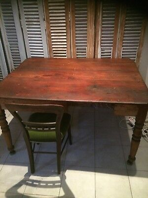 Antique Cedar Dining Table Rustic
