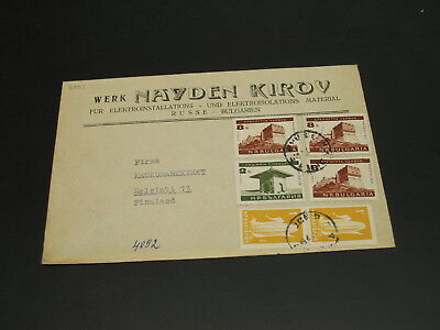 Bulgaria 1960s? cover to Finland *2408