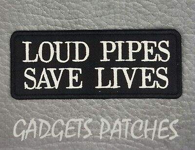 Loud Pipes Saves Lives HARLEY DAVIDSON BIKER Vest  Patches Iron Sew On