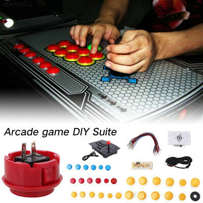 DFE5 Arcade Game DIY Kits Parts LED USB Encoder + Joystick + Push Buttons For MA