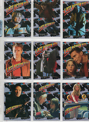 Last Action Hero - 11-Card Sticker Chase Set EX Topps 1993