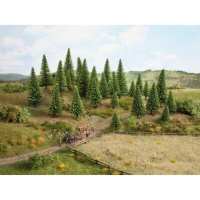 NOCH - 26825 Model Spruce Trees, 25 pieces, - 14 cm high H0,TT