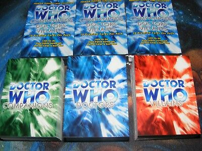 Dr DOCTOR WHO Companions Doctors Villains base set of 200 Trading Cards mint