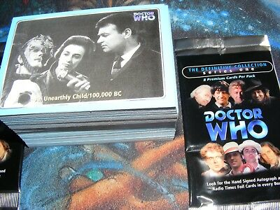 Dr DOCTOR WHO Definitive Collection Series One 1 base set of 120 Trading Cards