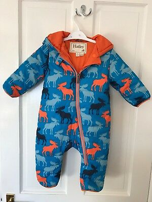 Hatley Moose Waterproof Snowsuit All In One 9-12 Months IMMACULATE Condition