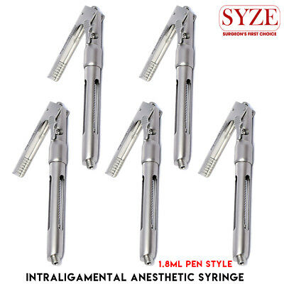 Surgical Intraligamental Syringes Pen Style Dental Aspirating Anesthetic 1.8ml