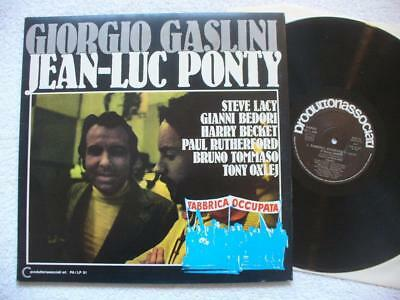 "Ponty Gaslini ""fabbrica Occupata"" 1974 Orig. Ita Lp Top Mint- Lacy Oxley Beckett"