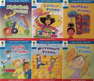 Oxford Reading Tree I Can Read Poetry Children's Books, Levels 3-4 (6 Books)