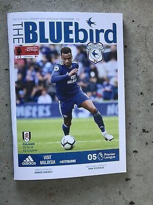 Cardiff City v Fulham Programme -20 th October 2018-Mint