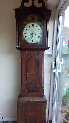 Antique Grandfather/Longcase clock by Craven Lyon of Bridlington (not working)