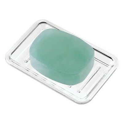 Interdesign Plastic Bar Soap Dish For Bathroom Sink Or Shower Ridged Saver Design