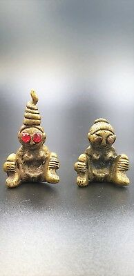Rare 2 Pcs   E- PHER  Charm Attraction Thai Sex Amulet