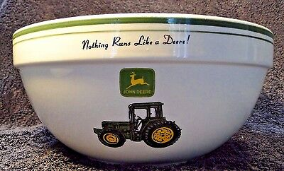 "Gibson John Deere Medium Mixing Serving Bowl 9"" Tractor EXCELLENT"