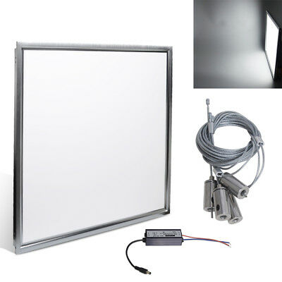 10x 600x600mm 48W Suspended LED Recessed Ceiling Panel Light Lamp Kit Cool White