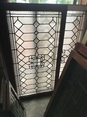 Sg 2472 Two available priced each antique textured and beveled glass transom wi…