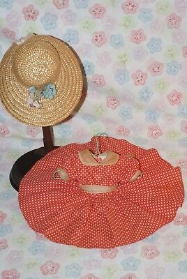 "GORGEOUS! Excellent Vintage Tagged Madame Alexander 15"" Doll Dress & Hat"