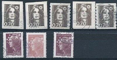 EB-445: FRANCE:  lot Marianne oblitérés n°2824(2)-2873(3) +...