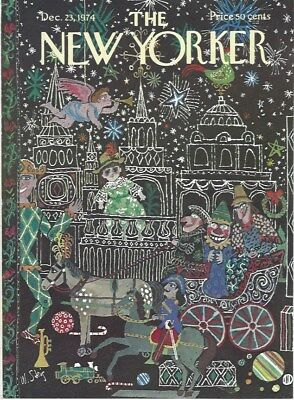 COVER ONLY ~ The New Yorker magazine ~ STEIG ~ December 23 1974 ~ Christmas