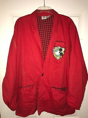 Vintage Rare Mickey And Co Mickey Mouse International Red Button Jacket Blazer M