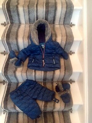 Ted Baker Snowsuit Separates With Boots & Gloves RRP £60 NEW