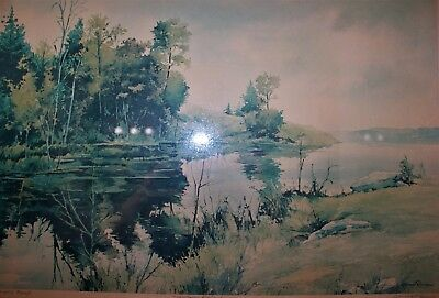 Print of a watercolor painting from Manuel Ruiz (Spanish Canadian artist)