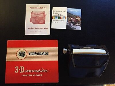3-Dimension View Master Model F - Lighted Viewer - 6 set of disk 1969