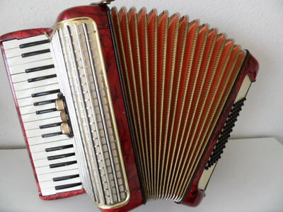 Hohner Concerto II rot/red 72 Bässe