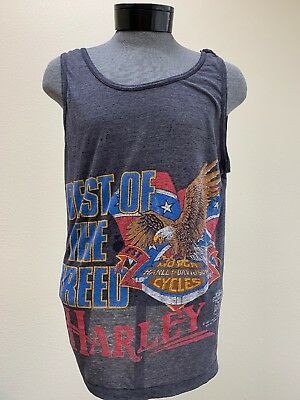 "VTG Harley Davidson "" Best Of The Breed "" '87 Mens T-Shirt"
