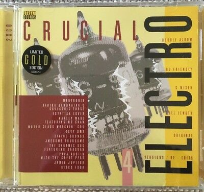 Streetsounds Nu Crucial Electro 4 Ltd Gold Edition CD very rare and OOP Hip Hop