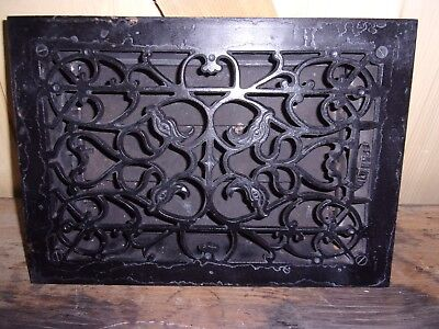Antique Cast-Iron Floor Or Wall Mount Heating Grate Birds 12 X  8""