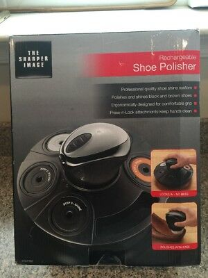 The Sharper Image Rechargeable Shoe Polisher - NEW IN BOX