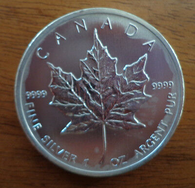 1 once oz argent coin silver 9999 5$ CANADA MAPLE LEAF 2011 ELIZABETH II p1€