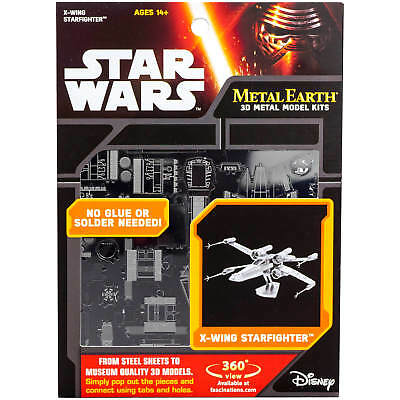 Star Wars X-Wing Star Fighter Metal Earth 3D Model Kit FASCINATIONS
