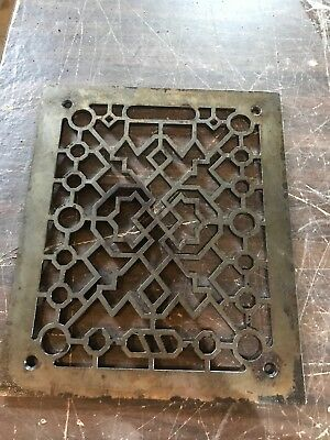 Antique cast-iron heating grate face 9 3/8 x 11 and three eights
