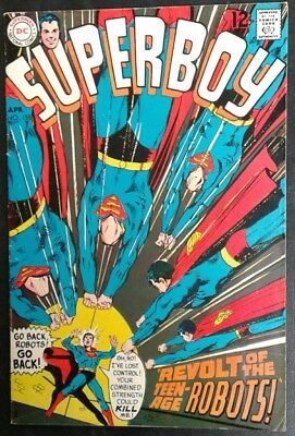 Superboy #155 DC Comics 12 cent cvr Silver Age Neal Adams Cover FN- 5.5 20% OFF!