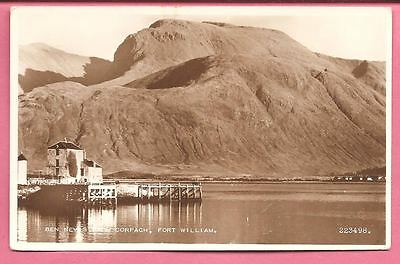 Ben Nevis from Corpach, Fort William, Scotland postcard. Real Photo. Valentines.