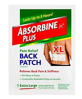 Pain Relief Back Patch, X-large (2 Pack) Medicated 9 X 4