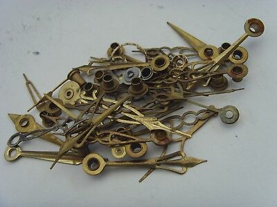 Thirty Five Antique Assorted Brass Clock Hands As Photographed