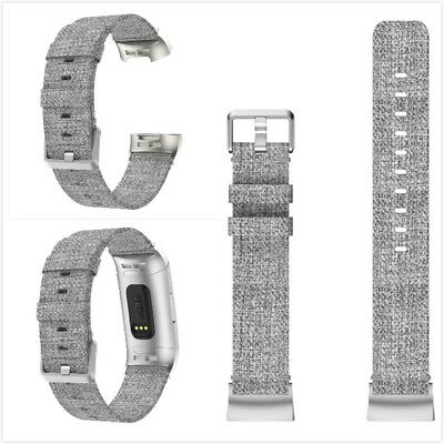 Nylon Woven Fabric Wristband Strap Watch Band Replacement for Fitbit Charge 3