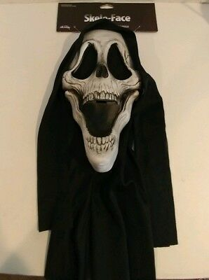 Skele-Face Fun World Halloween Scream Mask New with tags!!! 2018