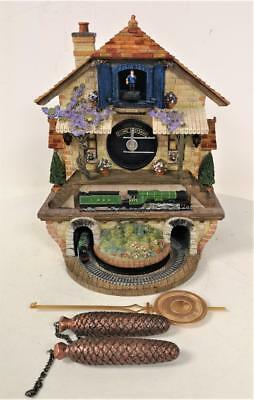 Stunning Flying Scotsman 'Memories Of Steam' Cuckoo Clock Fully Working