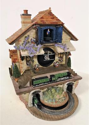 Nice 'Memories Of Steam' Flying Scotsman Cuckoo Clock Fully Working