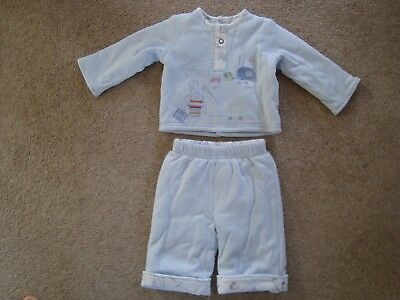 Mamas & Papas Baby Boys Cotton Outfit In Blue - Worn Once - Size 0-3 Months