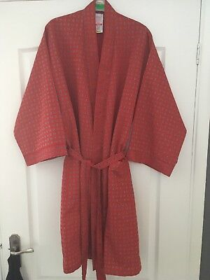 Mens Vintage St Michael's Paisley Dressing Gown Robe Size Small