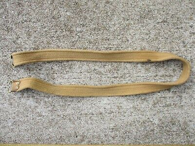 Imperial British WWI Canvas Enfield Rifle Sling Marked M.E. Co. 1913