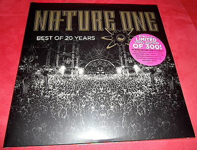 """4x12"""" Nature One Best Of 20 Years 4fach LP *Neu* Techno Classics Axis Come On"""